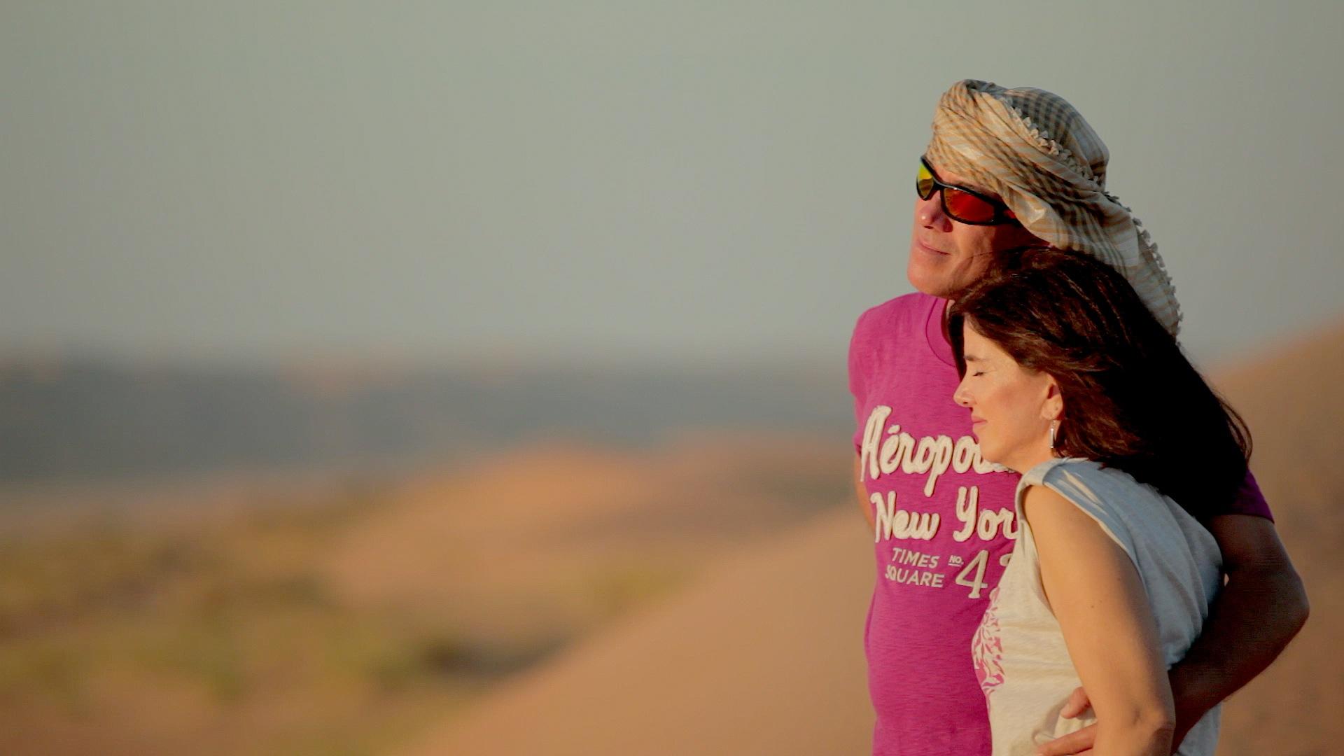 Taking in the breathtaking scenery in the Desert